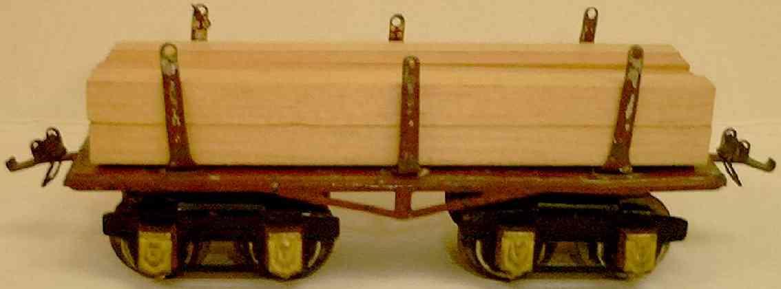 ives 69 1928 spielzeug eisenbahn holzwagen braun orange m-foemige achsblenden spur 0