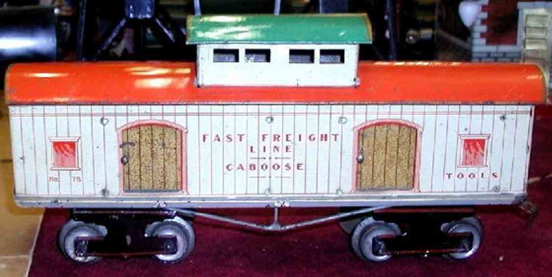 ives 75 railway toy caboose white caboose gauge 1