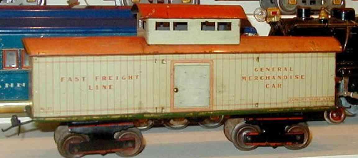 ives 75 railway toy caboose variation gauge 1