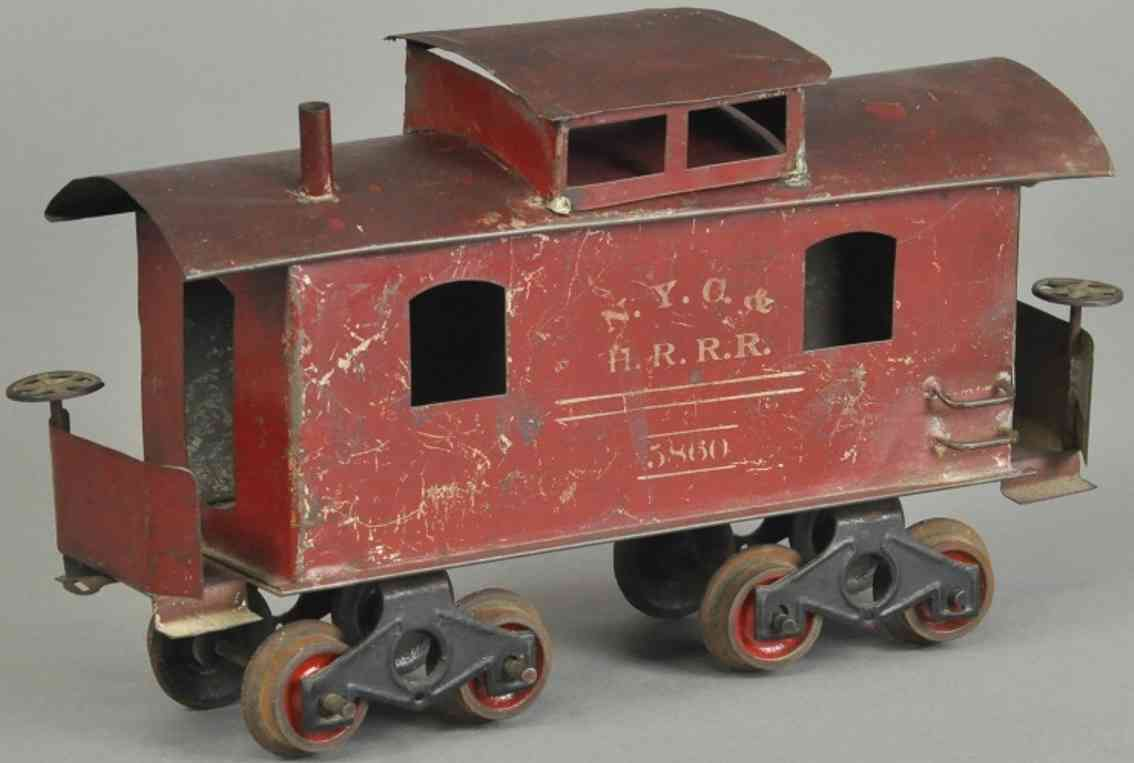 knapp electric and novelty company 5860 gueterwagen caboose II 2 inches
