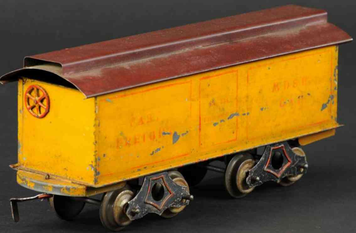 knapp electric and novelty box car fast freight standard gauge