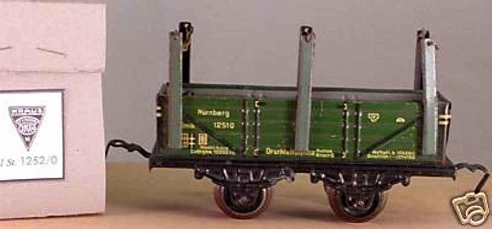 kraus-fandor 1252/0 spielzeug eisenbahn rungenwagen gruen spur 0