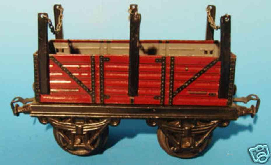 kraus-fandor 1252/1 spielzeug eisenbahn guterwagen rungenwagen spur 1