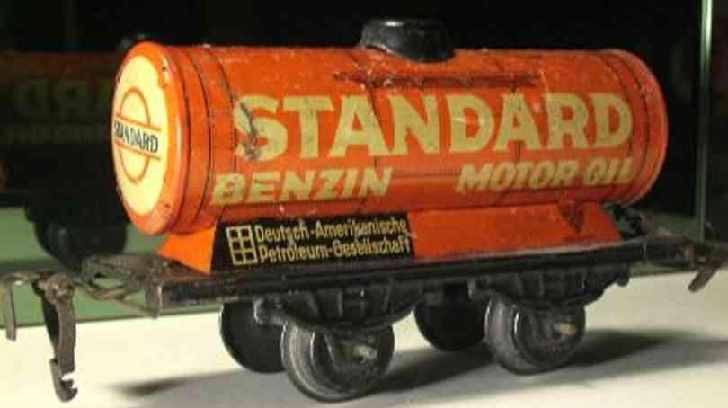 kraus-fandor 1254/0 st spielzeug eisenbahn kesselwagen rot standard spur 0