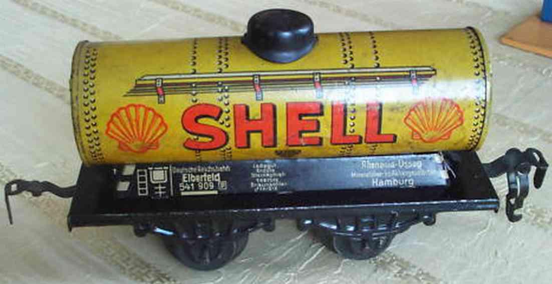 kraus-fandor 1254/0 Sh spielzeug eisenbahn kesselwagen gelb shell spur 0