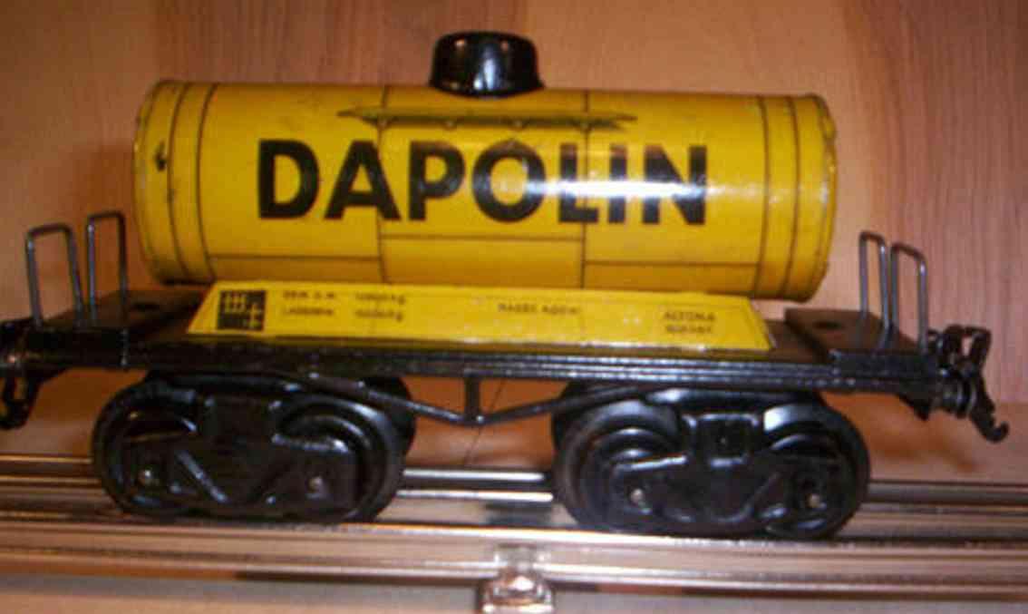 kraus-fandor 1254/0 spielzeug eisenbahn guterwagen petroleumwagen spur 0