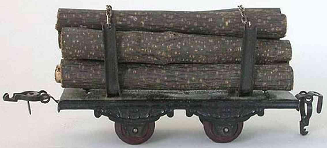 kraus-fandor 1255/0/l spielzeug eisenbahn guterwagen langholzwagen spur 0