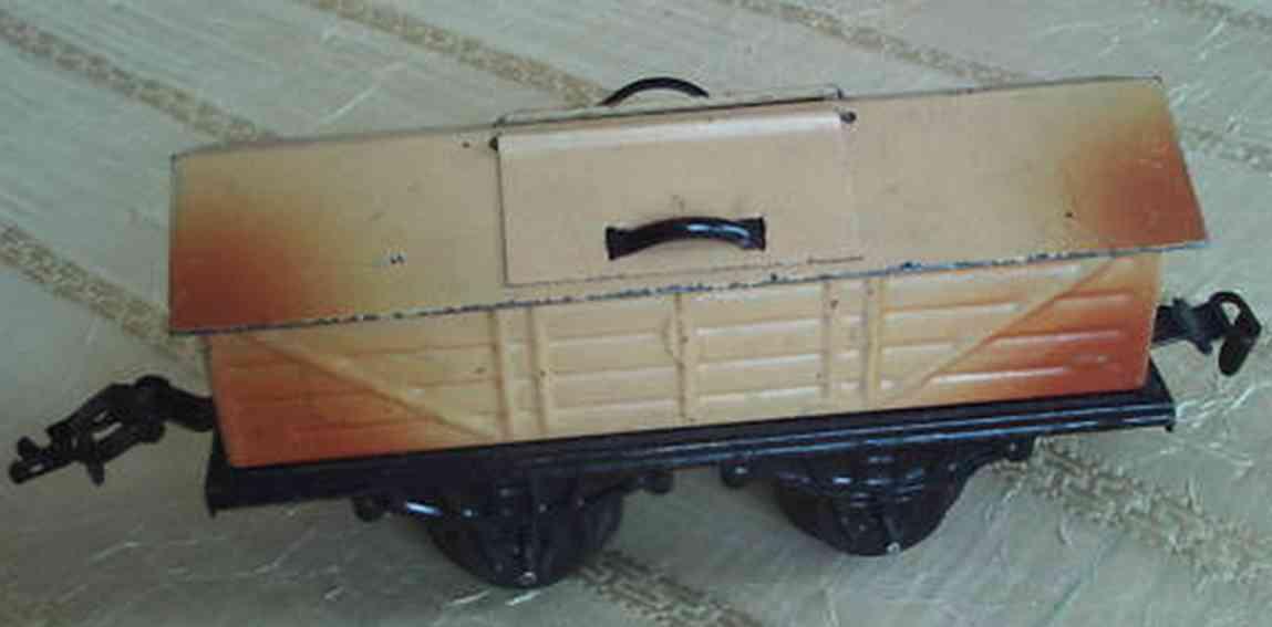 kraus-fandor 1266/0 spielzeug eisenbahn guterwagen kalkwagen spur 0
