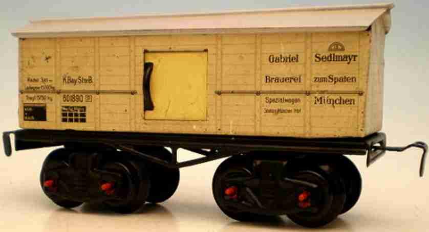 kraus-fandor 1308 spielzeug eisenbahn bierwagen gabriel brauerei spur 0