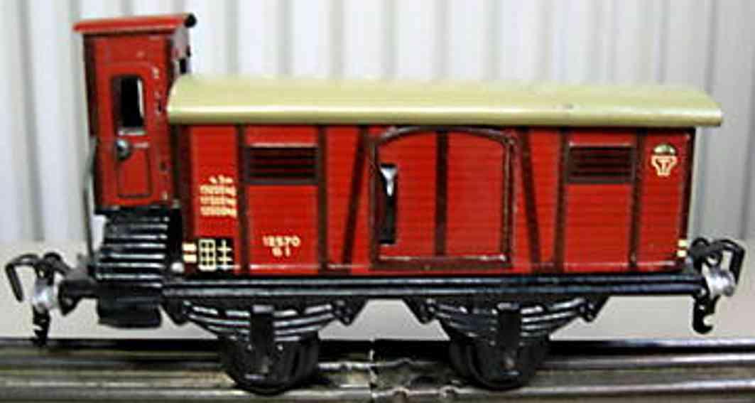 kraus-fandor 1337/0 spielzeug eisenbahn gedeckter gueterwagen rot spur 0