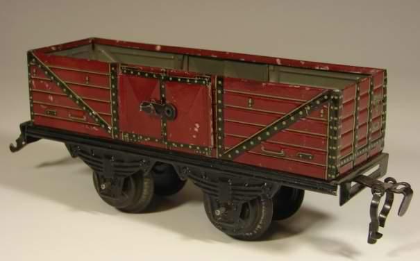 kraus-fandor 1351/0 spielzeug eisenbahn guterwagen hochbordwagen spur 0