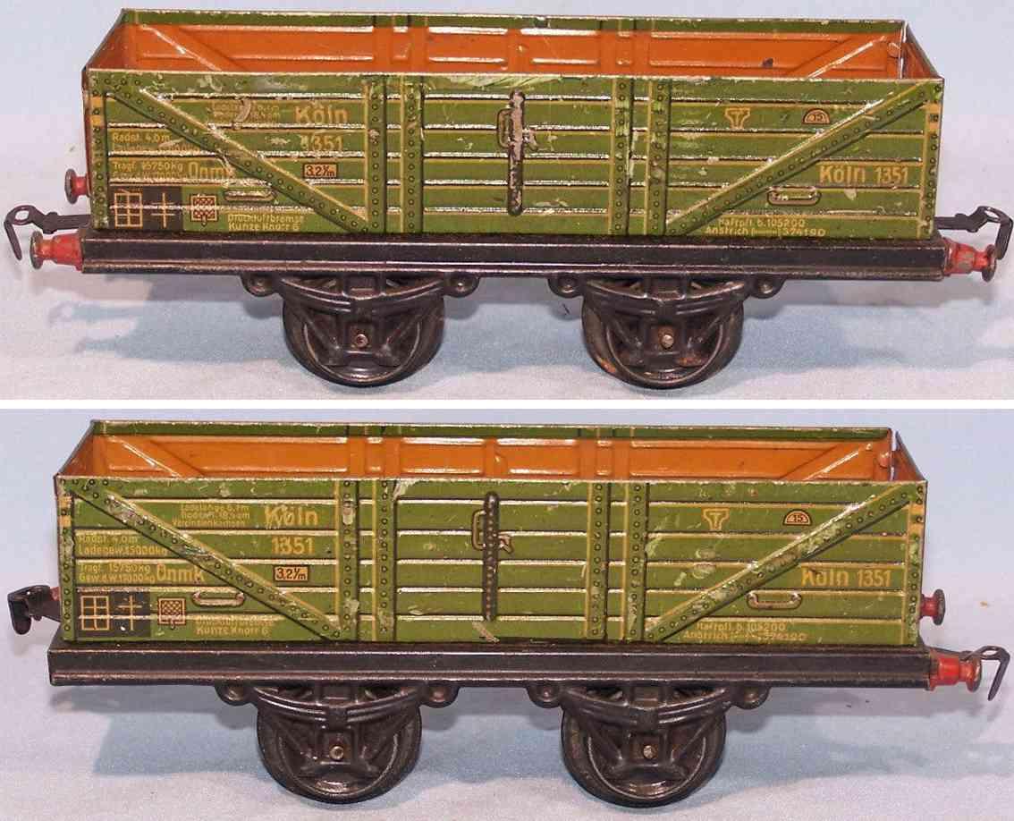 kraus-fandor 1351/1 spielzeug eisenbahn hochbordwagen spur 1