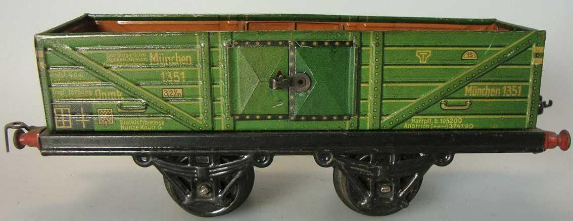 kraus-fandor 1351/1 spielzeug eisenbahn guterwagen hochbordwagen spur 1