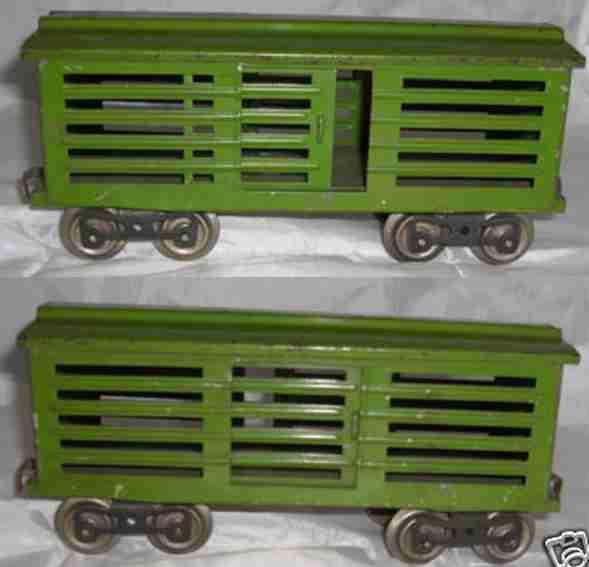 lionel 113 spielzeug eisenbahn viehwagen gruen standard gauge