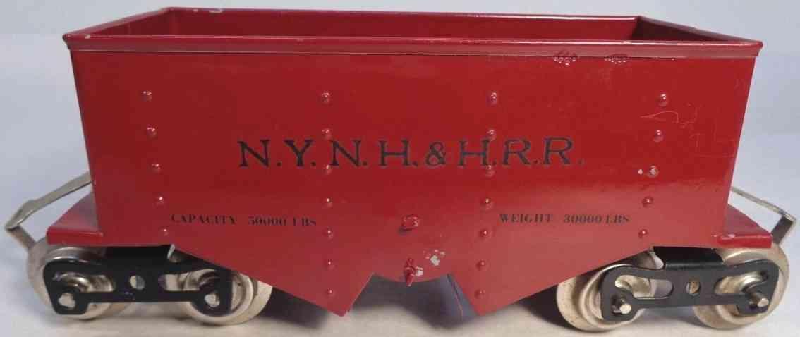 lionel 116 railway toy ballast dump car maroon standard gauge
