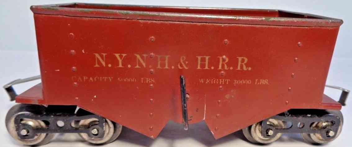 lionel 116 spielzeug eisenbahn schuettgutwagen braun olive standard gauge