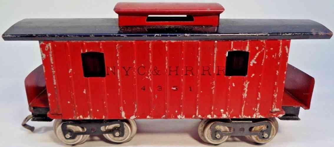 lionel 117 eisenbahn nyc hrrr 4351 caboose dunkel rot schwarz standard gauge