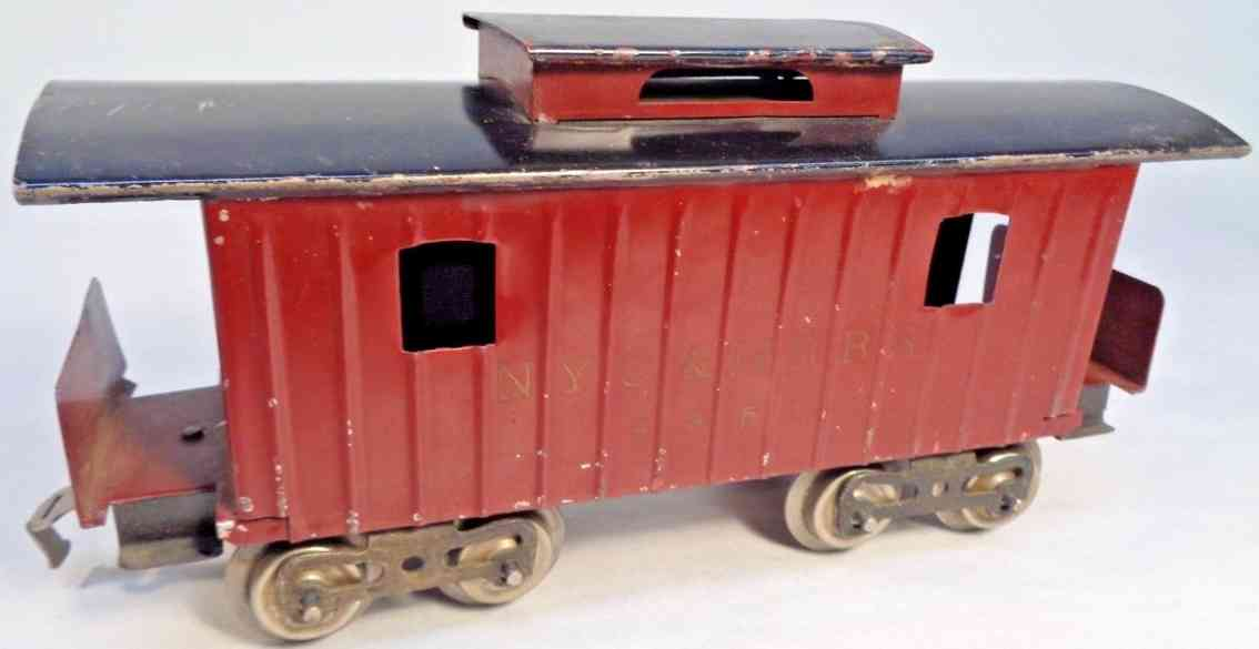 lionel 117 eisenbahn nyc hrrr 4351 caboose braun schwarz standard gauge