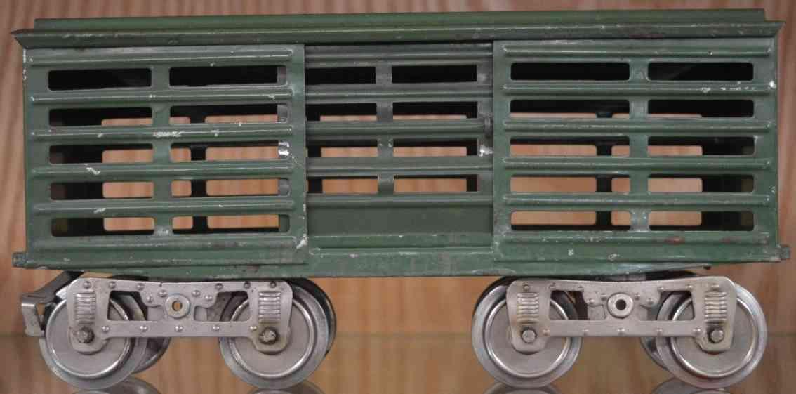 lionel 13 spielzeug eisenbahn viehwagen dunkelgruen standard gauge