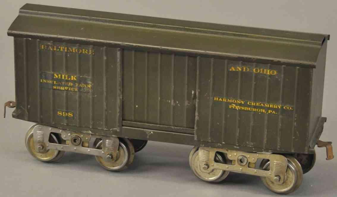 lionel 14  XIII spielzeug eisenbahn  gedeckter gueterwagen harmony standard gauge