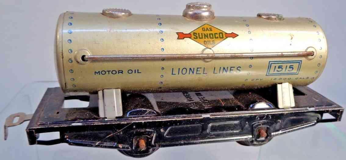 lionel 1515 sunoco kesselwagen aluminium vernickelt spur 0