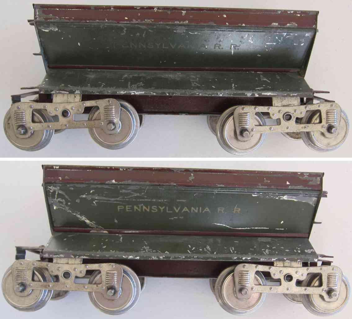 lionel 16 spielzeug eisenbahn schotterwagen in dunkelgruen standard gauge
