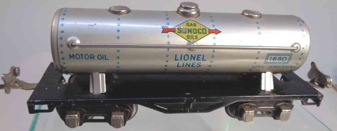 lionel 1680 spielzeug eisenbahn sunoco kesselwagen aluminium spur 0