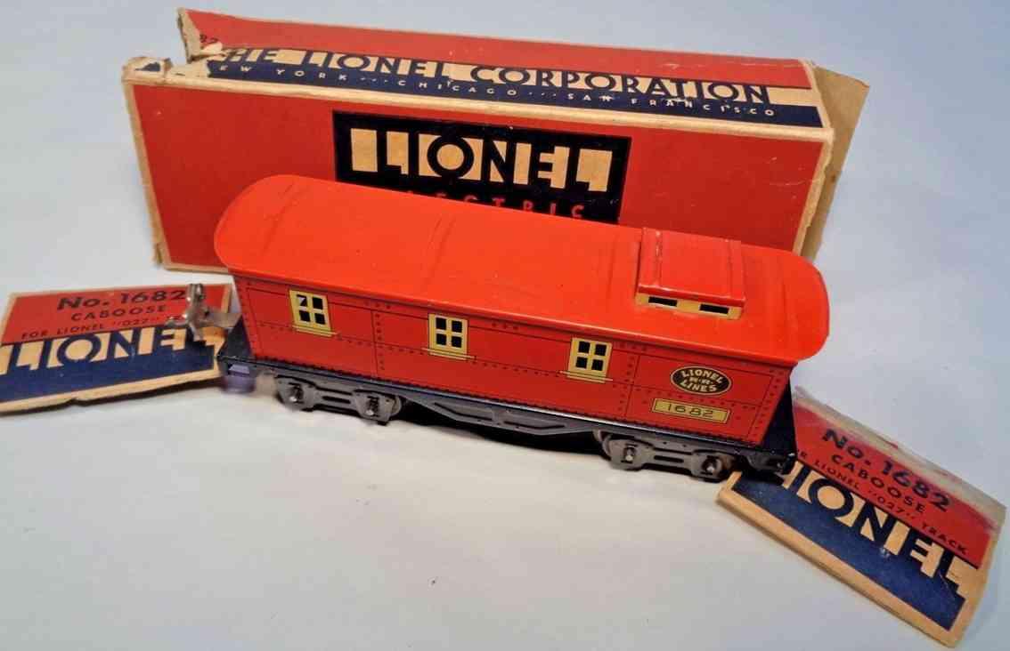 lionel 1682X spielzeug eisenbahn caboose rot creme ohne achszapfen spur 0 027