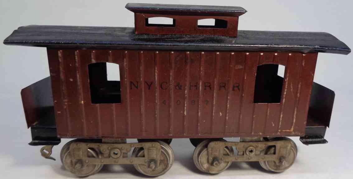 lionel 17  eisenbahn new york cental caboose brauns schwarz 4087 standard gauge