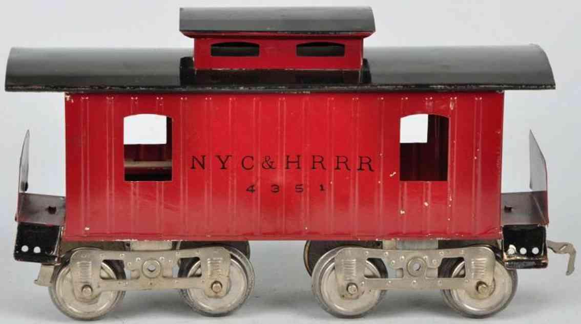 lionel 17  eisenbahn new york cental caboose brauns schwarz 4351 standard gauge