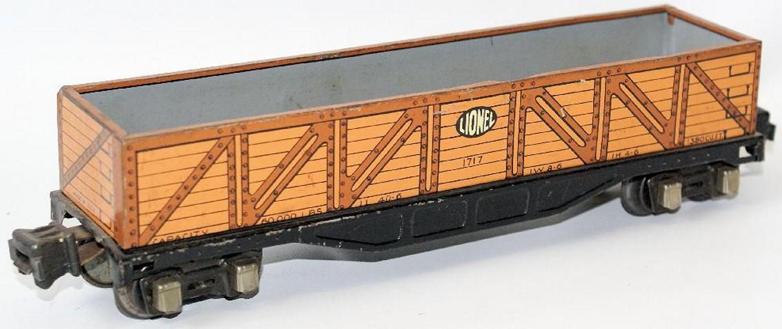 lionel 1717 railway toy gondola gauge 0
