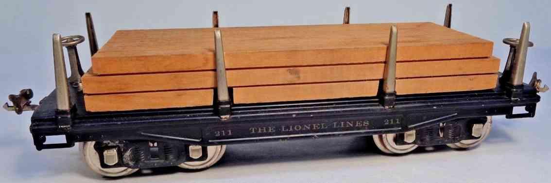 lionel 211 spielzeug eisenbahn flachwagen holz ladung standard gauge