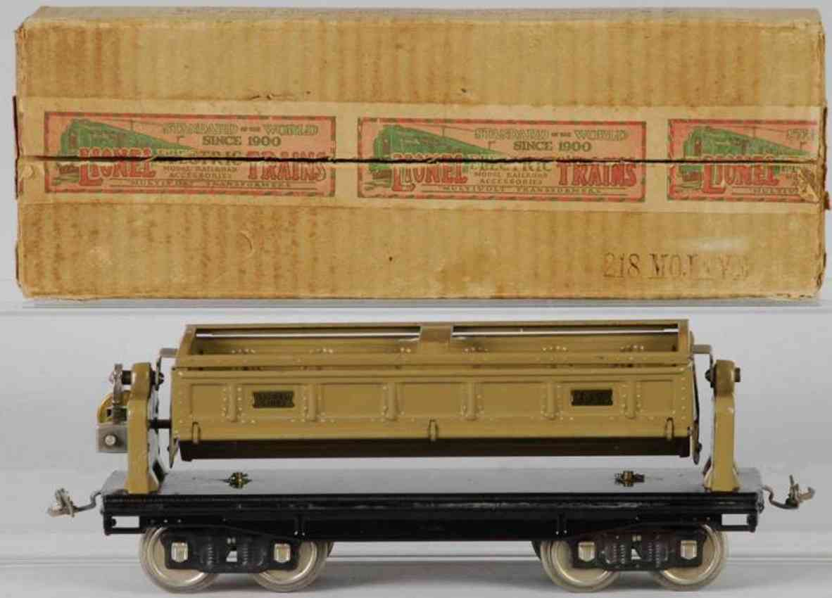 lionel 218 spielzeug eisenbahn schuettgutwagen standard gauge