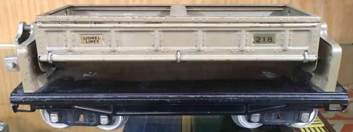lionel 218 spielzeug eisenbahn offener kippwagen sand messing standard gauge