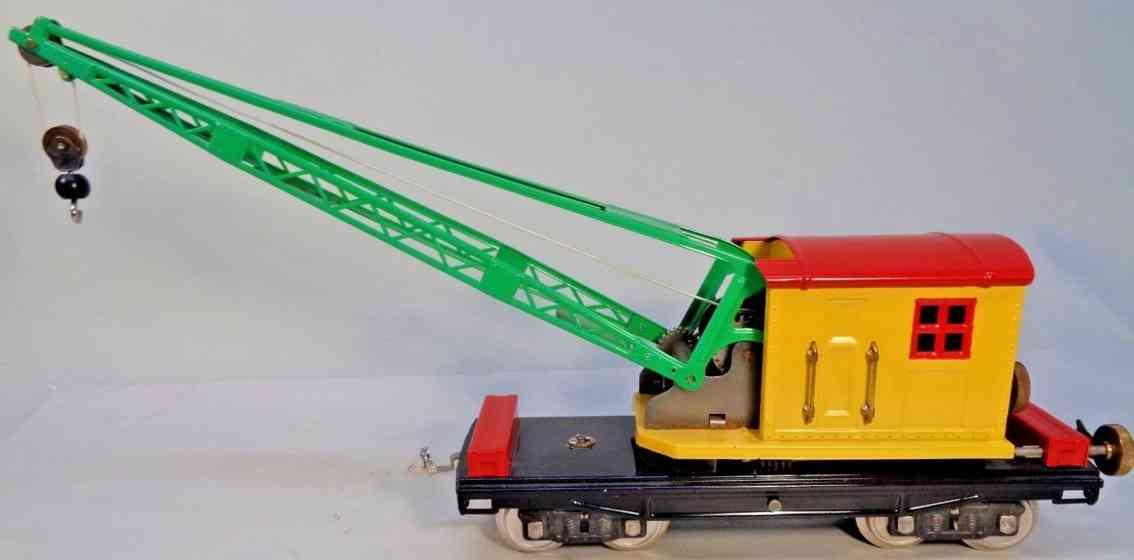 lionel 219 crane car yellow red green standard gauge