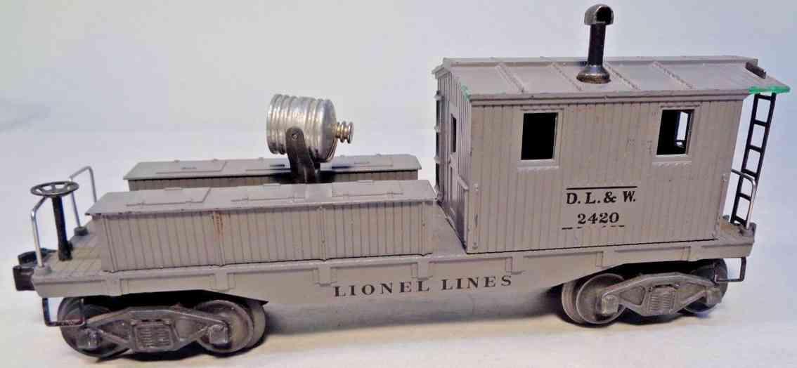 lionel 2420 spielzeug eisenbahn caboose grau spur 0