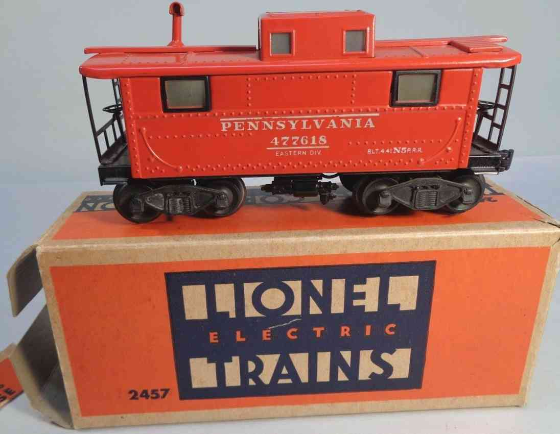 lionel 2457 railway toy caboose deluxe version red gauge 0