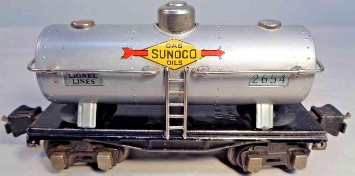 lionel 2654 spielzeug eisenbahn sunoco tankwagen in aluminium spur 0