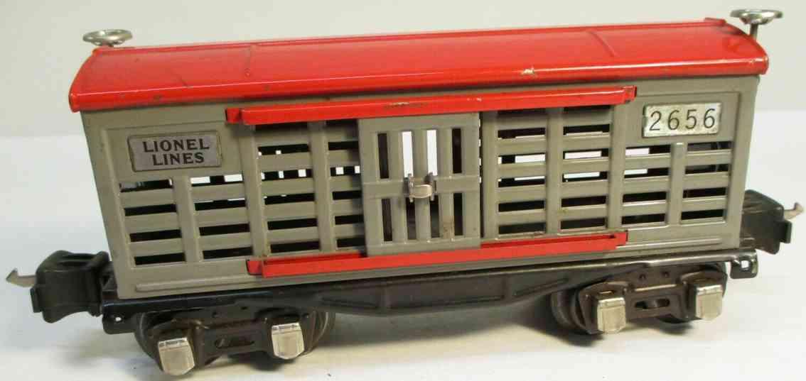 lionel 2656/I spielzeug eisenbahn gueterwagen grau rot spur 0