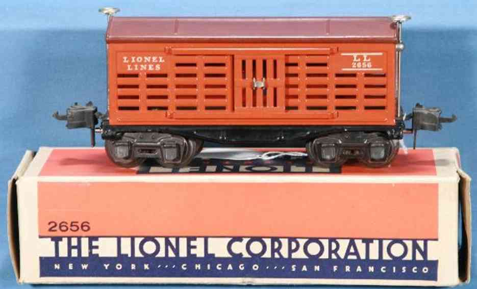 lionel 2656/III spielzeug eisenbahn gueterwagen orange spur 0