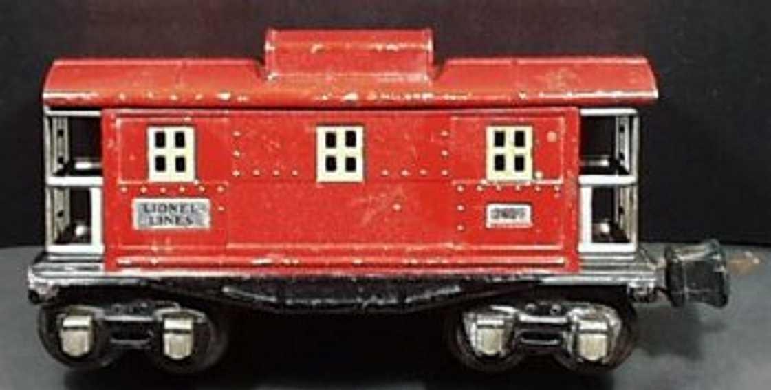 lionel 2657 spielzeug eisenbahn caboose rot