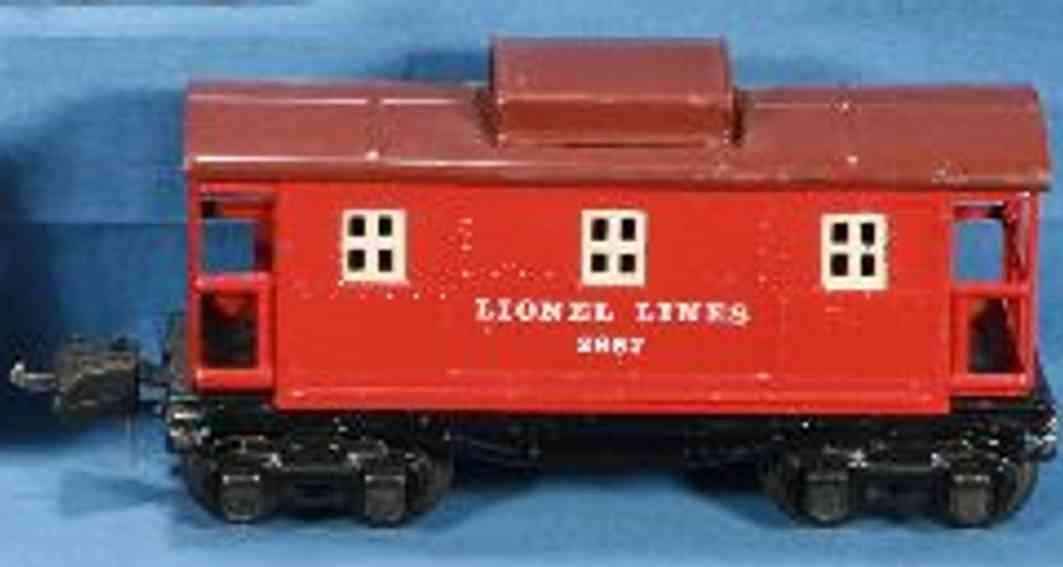 lionel 2657 spielzeug eisenbahn caboose rot cremefarbenen fenster