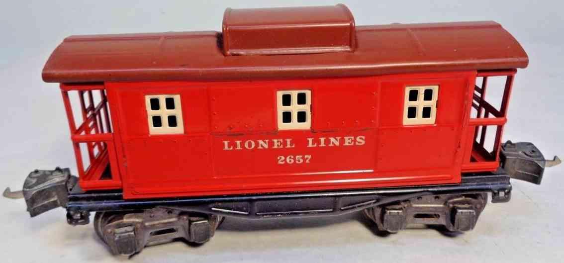 lionel 2657X spielzeug eisenbahn caboose rot toskanisch spur 0