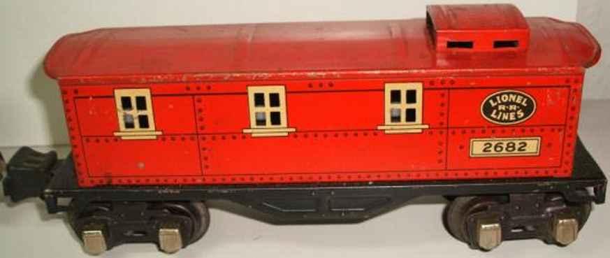 Lionel 2682 Güterwagen Caboose in rot