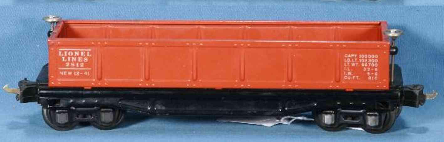 lionel 2812 spielzeug eisenbahn offener gueterwagen orange spur 0