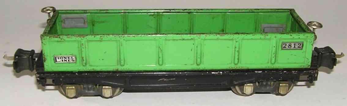 Lionel 2812.1 Offener Güterwagen Frachtwagen in grün