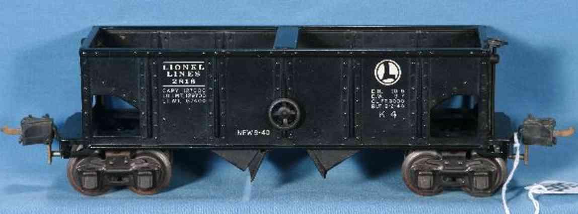 lionel 2816/III spielzeug eisenbahn offener gueterwagen schwarz