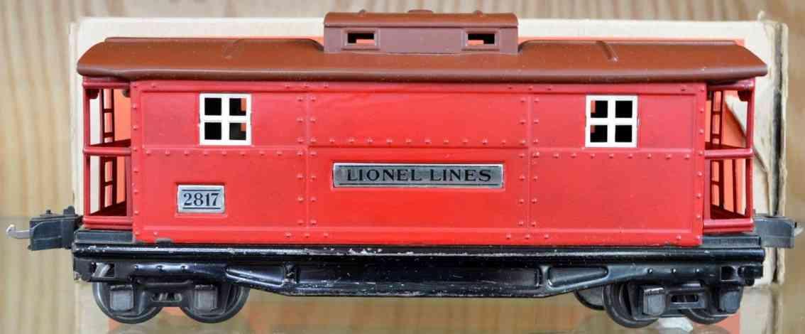 lionel 2817 spielzeug eisenbahn caboose rot braun spur 0