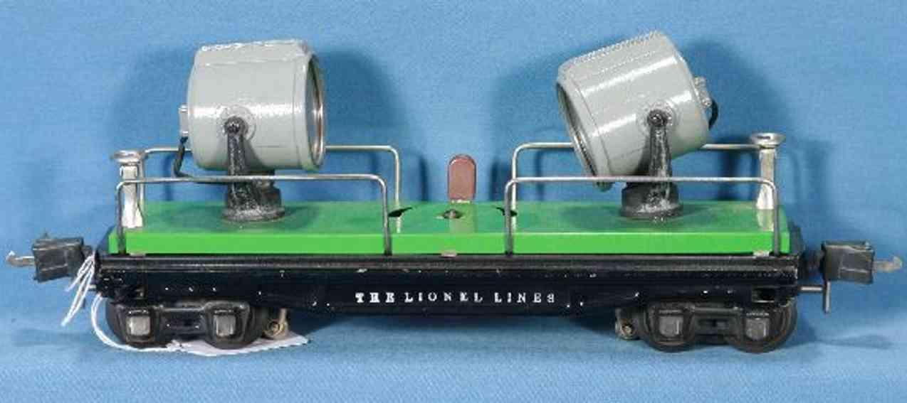 lionel 2820 spielzeug eisenbahn scheinwerferwagen gruen schwarz
