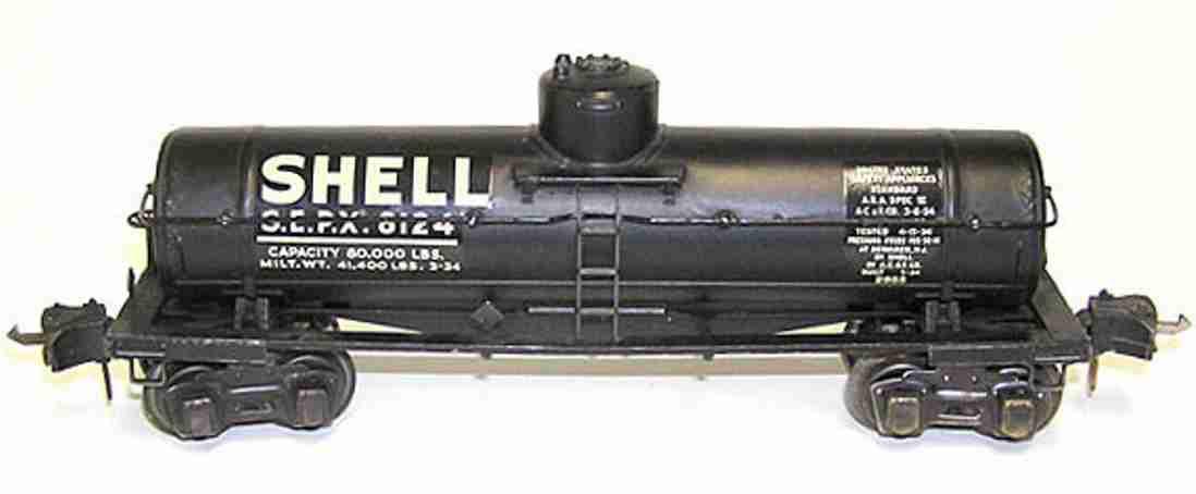 lionel 2955/I spielzeug eisenbahn shell kesselwagen spur 0